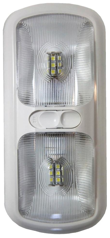 NEW ARCON BRIGHT WHITE DOUBLE LED LIGHT W/ OPTIC LENS PN: 20670 RV Interiors
