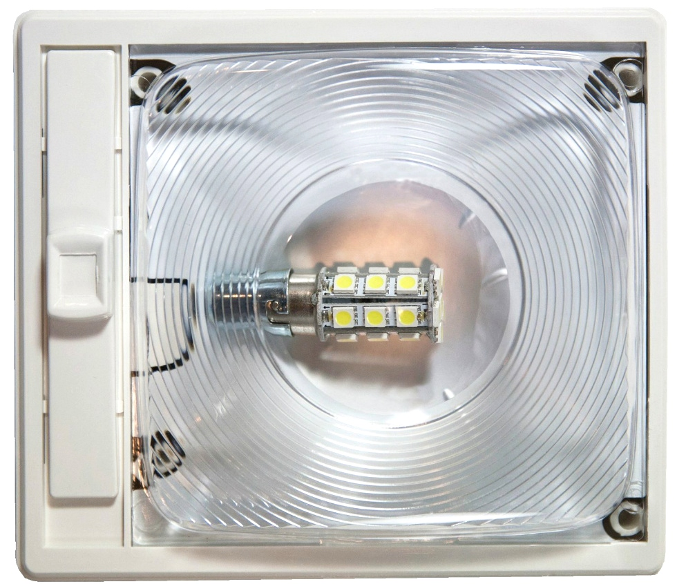 NEW ARCON 20667 BRIGHT WHITE EC-LITE SINGLE LED LIGHT WITH OPTIC LENS RV Interiors