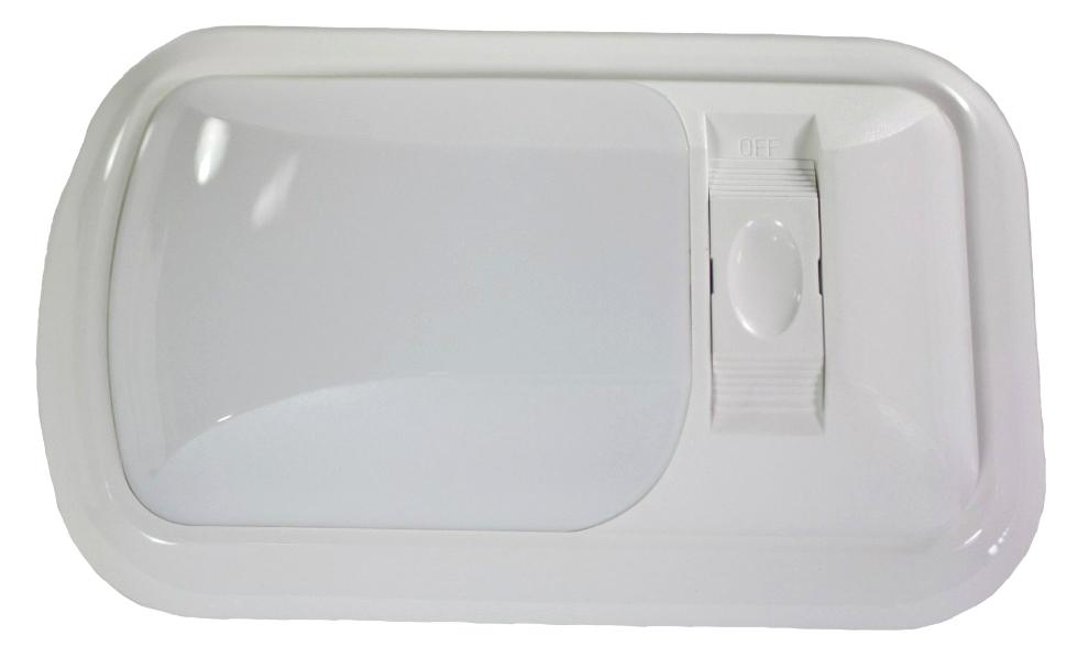 NEW ARCON 12V BRIGHT WHITE EU-LITE SINGLE LED LIGHT W/ WHITE LENS RV Interiors