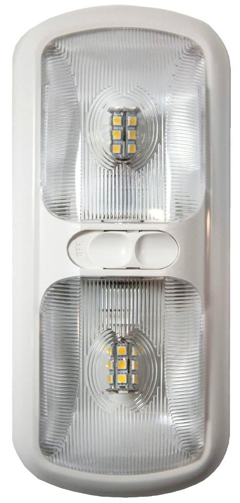 NEW ARCON 20712 SOFT WHITE 12V EU-LITE DOUBLE LED RV LIGHT W/ OPTIC LENS RV Interiors