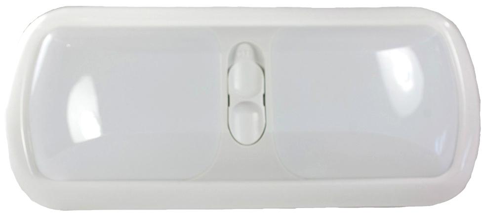 NEW ARCON 20714 SOFT WHITE 12V DOUBLE LED RV LIGHT W/ WHITE LENS  RV Interiors