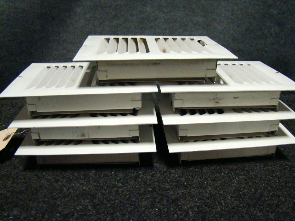 USED RV/MOTORHOME WHITE FLOOR VENTS (SET OF 7) FOR SALE RV Interiors