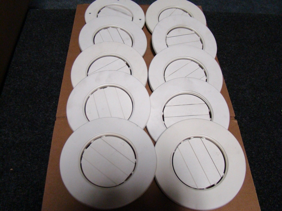 USED RV/MOTORHOME SET OF 10 WHITE CEILING VENT COVERS FOR SALE RV Interiors