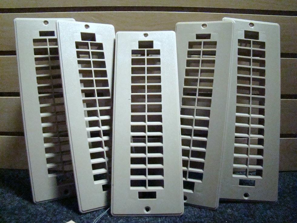 USED RV/MOTORHOME SET OF 5 TAN FLOOR VENT COVERS (PLASTIC) FOR SALE RV Interiors