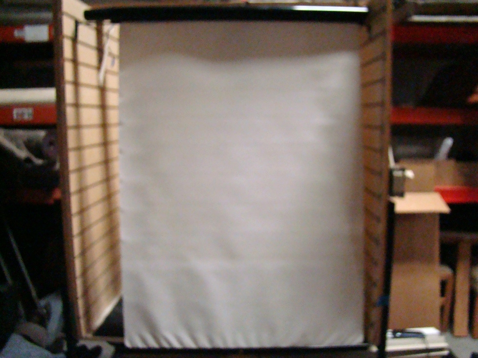 USED RV/MOTORHOME SET OF 2 WHITE VINYL ELECTRIC SHADES FOR SALE RV Interiors