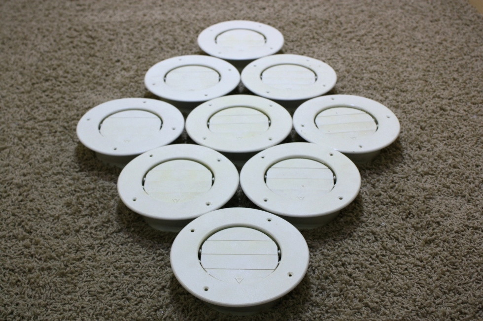 USED SET OF 9 ROUND CEILING VENT RV PARTS FOR SALE RV Interiors
