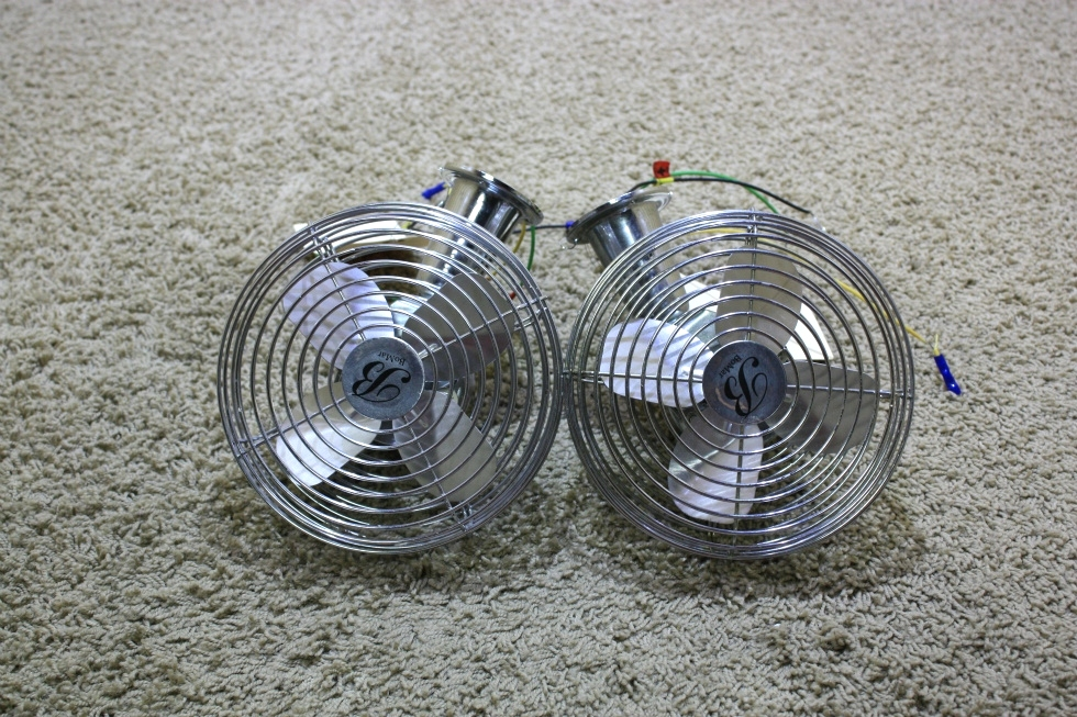 USED SET OF 2 BOMAR MOTORHOME DASH FANS CF-712 FOR SALE RV Interiors