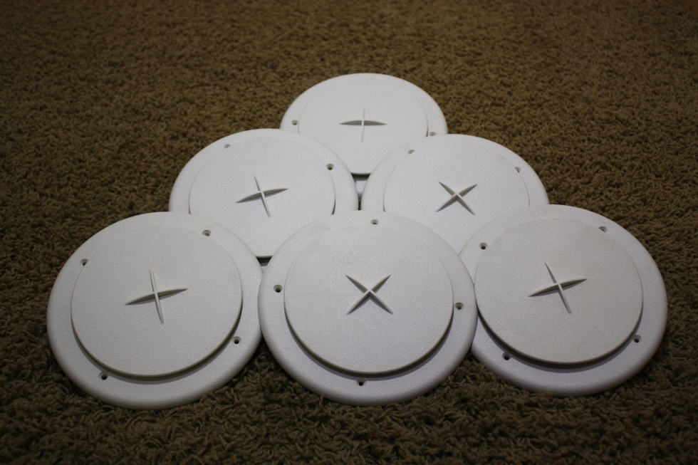 Used Set Of 6 Round Ceiling Vent Covers For Rv Interiors