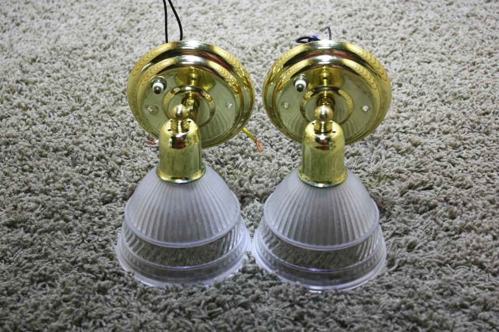 USED RV SET OF 2 ADJUSTABLE WALL SCONCE LIGHT FIXTURES FOR SALE RV Interiors