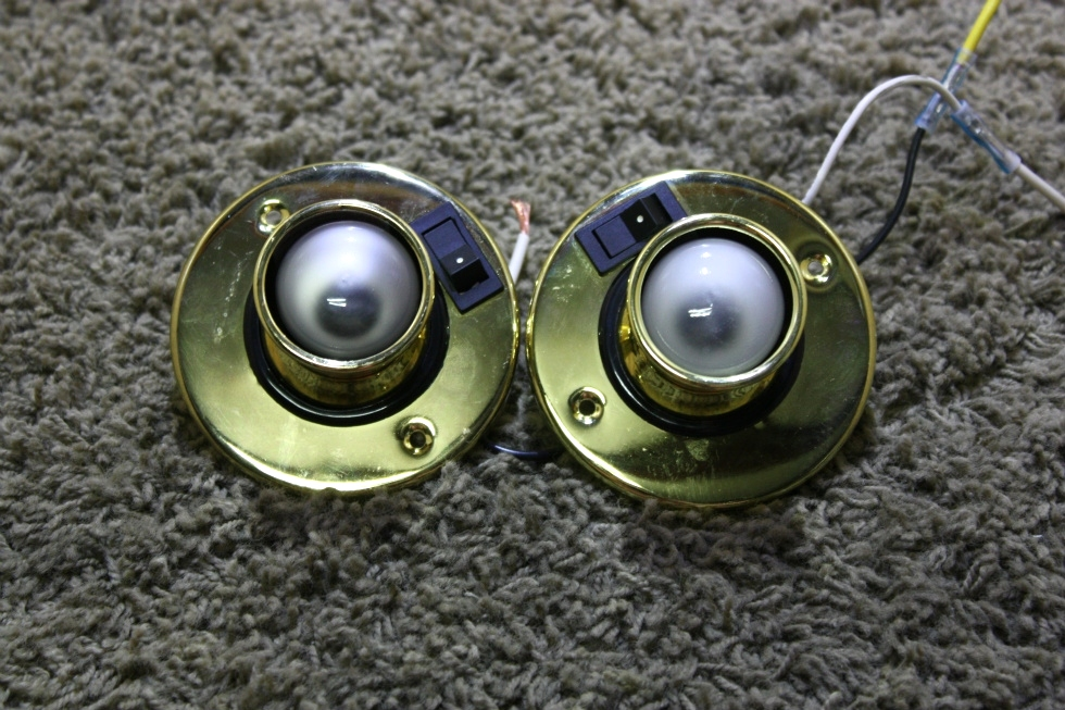 USED SET OF 2 INTERIOR SWIVEL READING LIGHT FIXTURES RV PARTS FOR SALE RV Interiors