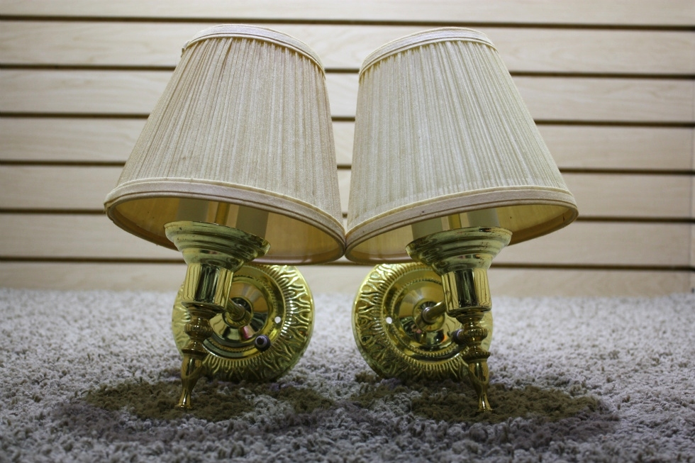 USED RV SET OF 2 INTERIOR WALL LIGHT FIXTURES FOR SALE RV Interiors