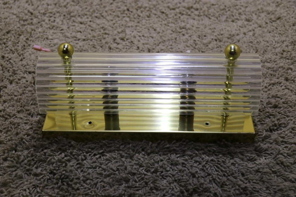 Rv Interiors Used 2 Bulb Rectangle Vanity Light Bar With Clear Cover Rv Parts For Sale Interior