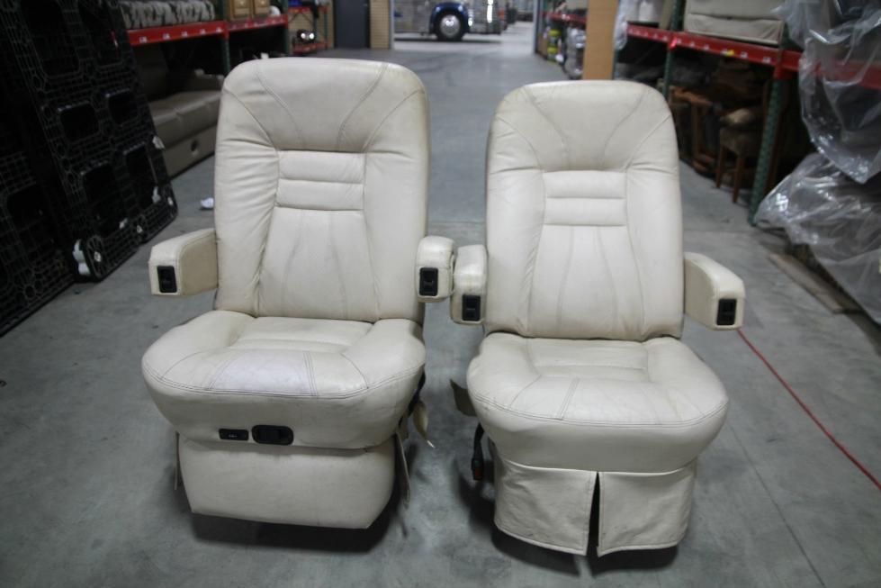 Rv Furniture Used Rv Motorhome Flexsteel Vanilla Leather