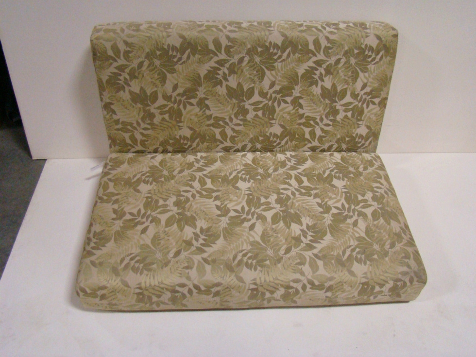 USED RV/MOTORHOME FURNITURE GREEN IVY/LEAF DINETTE CUSHION SET FOR SALE RV Furniture