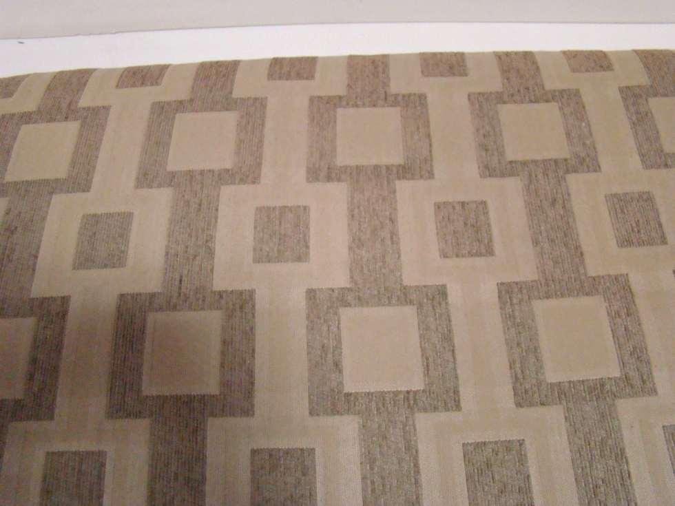 USED RV/MOTORHOME FURNITURE TAN/KHAKI MULTI BLOCK DINETTE CUSHION (ONLY) FOR SALE RV Furniture
