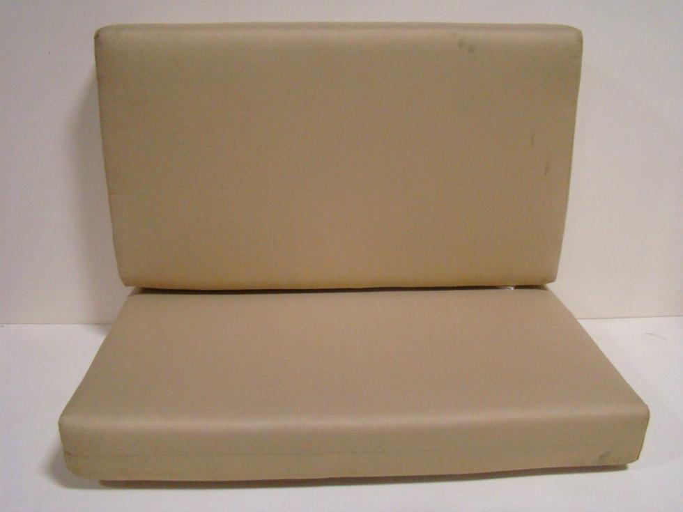 USED RV/MOTORHOME FURNITURE 2 PC DINETTE CUSHION SET (GLAMOUR OATMEAL) FOR SALE RV Furniture