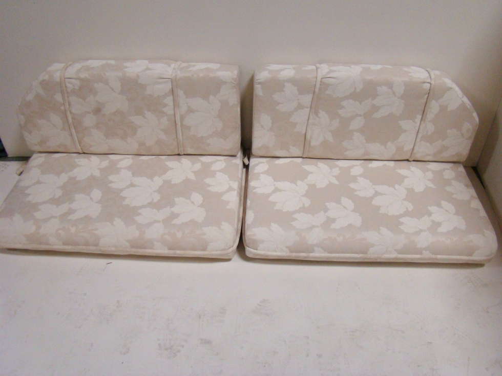 USED RV/MOTORHOME FURNITURE 4 PIECE DINETTE CUSHION SET (IVORY) FOR SALE RV Furniture