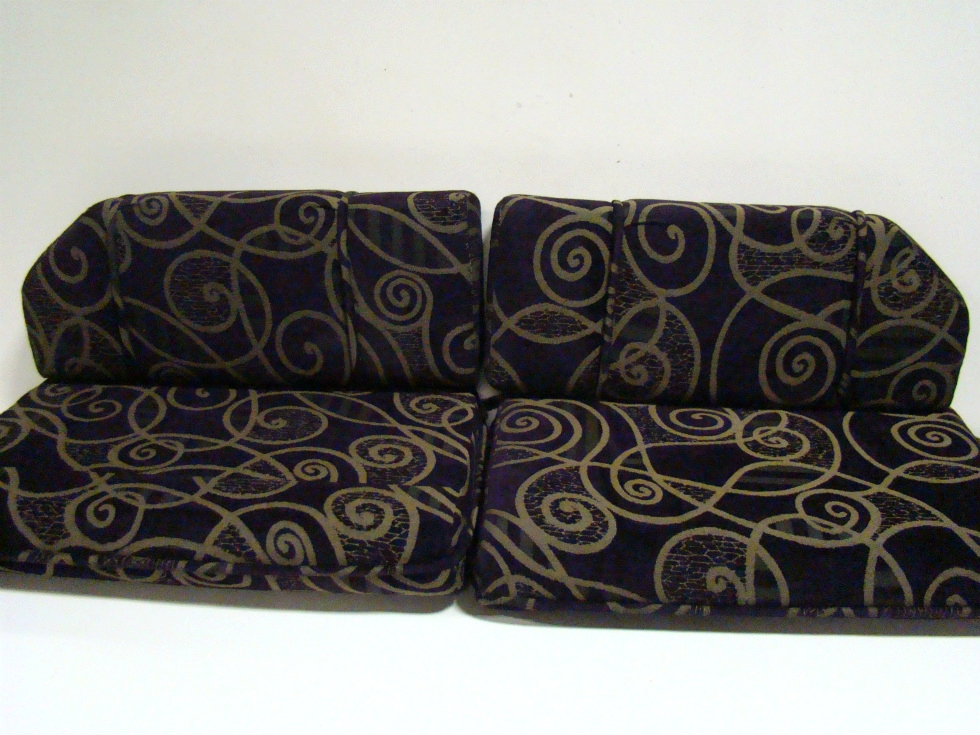 USED RV/MOTORHOME FURNITURE 4 PIECE DINETTE CUSHION SET (PLATINUM PLUM) FOR SALE RV Furniture