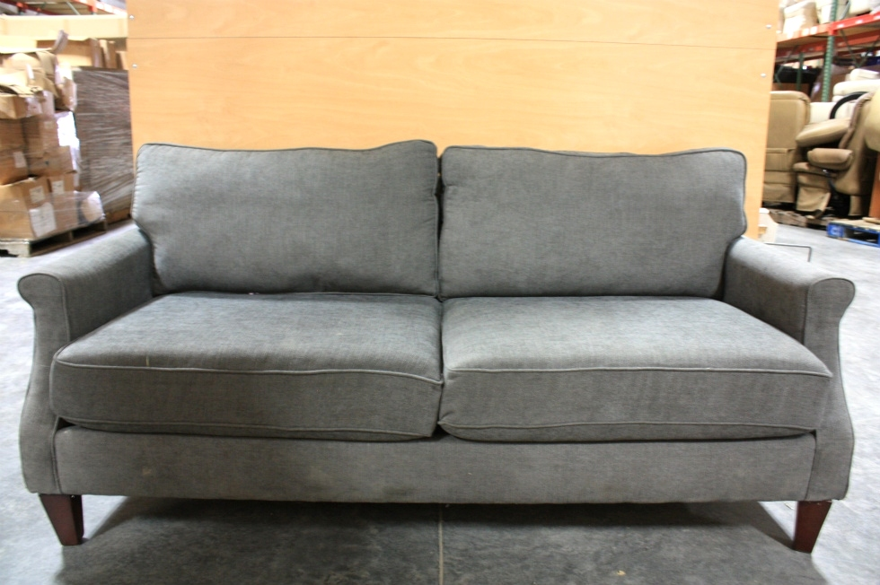 Used Charcoal Polyester Fiber Sofa For Rv Furniture
