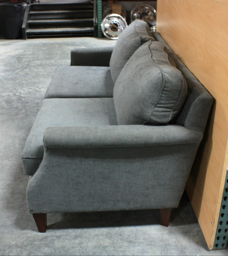 Rv Furniture Used Charcoal Polyester Fiber Sofa For Sale