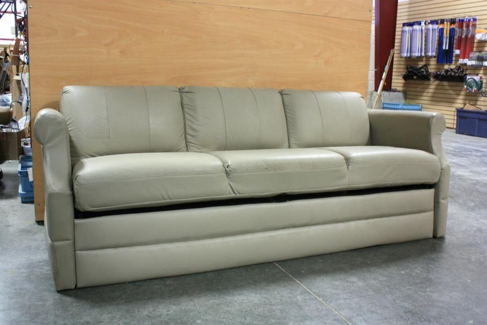 Stupendous Rv Furniture Used Rv Flexsteel Tan Vinyl Jack Knife Sleeper Cjindustries Chair Design For Home Cjindustriesco
