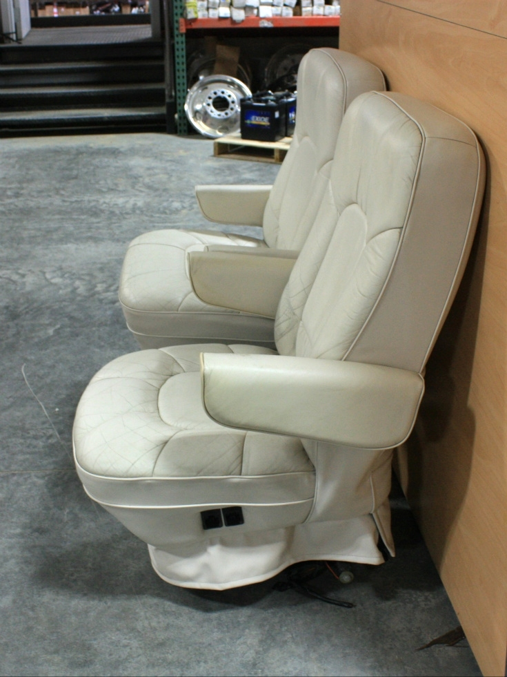 USED RV LEATHER LOOK CAPTAIN CHAIRS FOR SALE RV Furniture