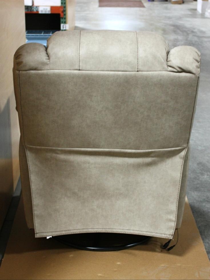 RV Furniture THOMAS PAYNE LEATHER VINYL SWIVEL GLIDER RECLINER SET
