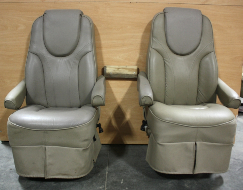 USED RV SET OF 2 TWO TONE CAPTAIN CHAIRS FOR SALE RV Furniture
