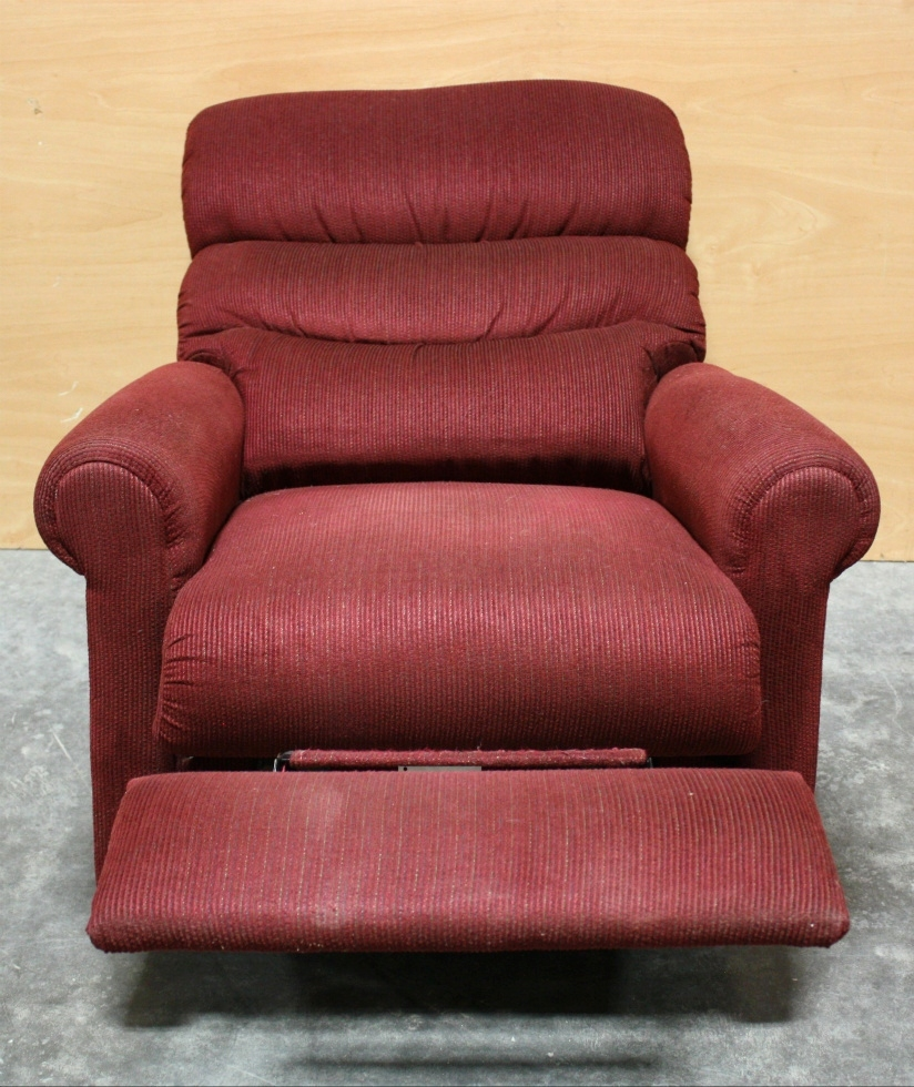 USED MOTORHOME RED CLOTH RECLINER FOR SALE RV Furniture