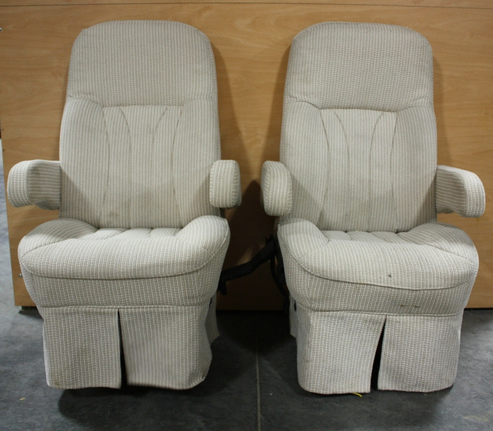 USED MOTORHOME CLOTH CAPTAIN CHAIR SET FOR SALE RV Furniture