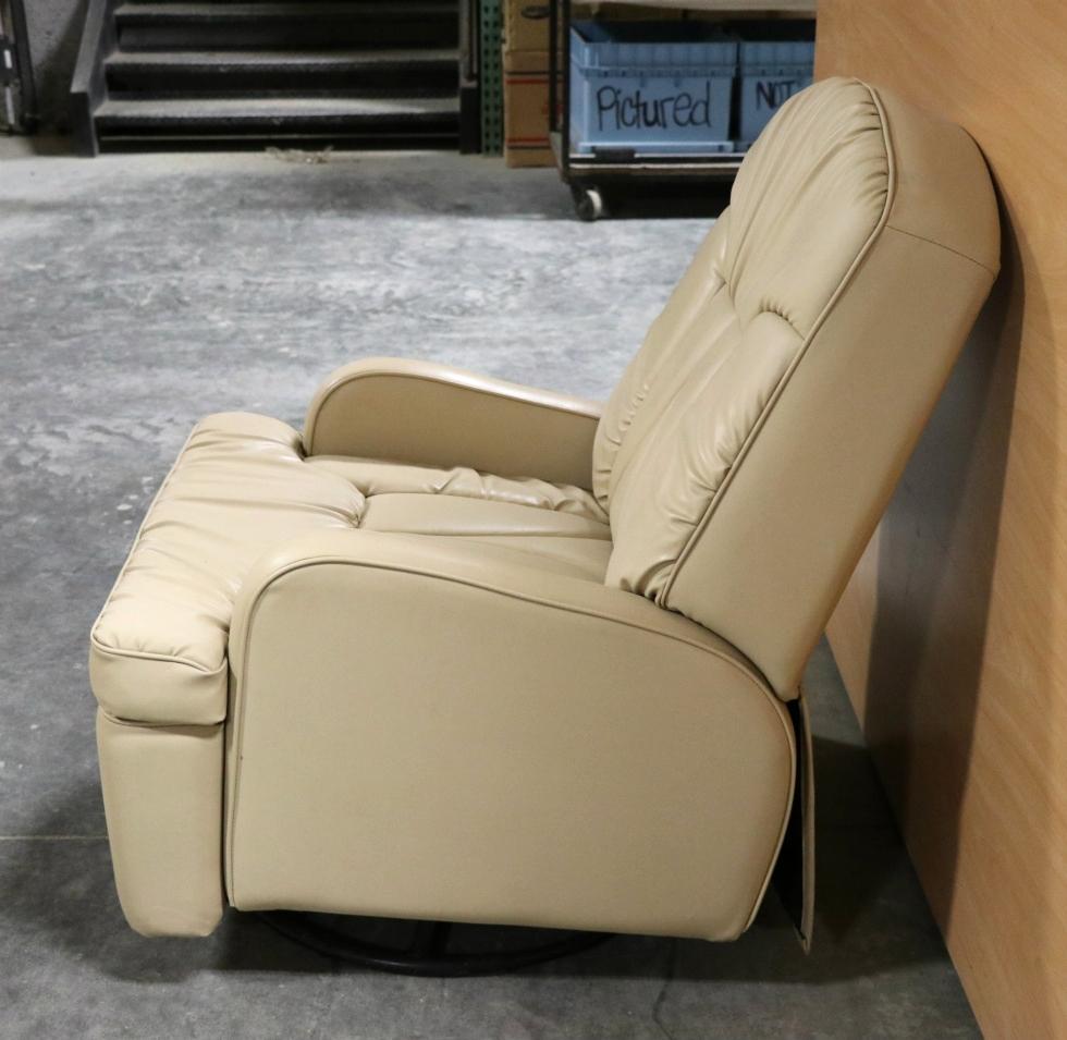 Rv Furniture Used Motorhome Beige Swivel Recliner For Sale