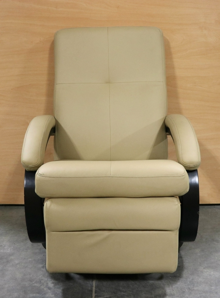 USED RV LEATHER BEIGE EURO CHAIR FOR SALE RV Furniture & RV Furniture USED RV LEATHER BEIGE EURO CHAIR FOR SALE RV Swivel ...
