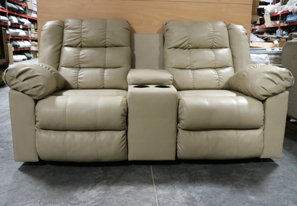 rv furniture used leather rv loveseat with cup holders motorhome furniture for sale couches. Black Bedroom Furniture Sets. Home Design Ideas