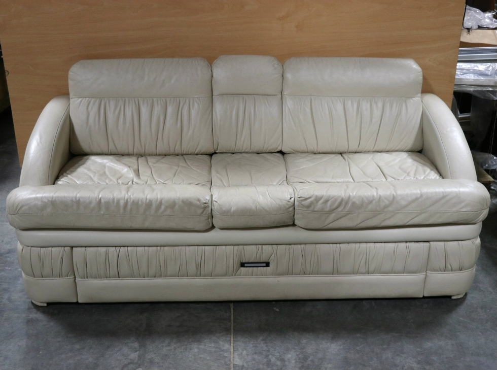 Rv furniture used motorhome leather couch with storage for Used leather sofa set