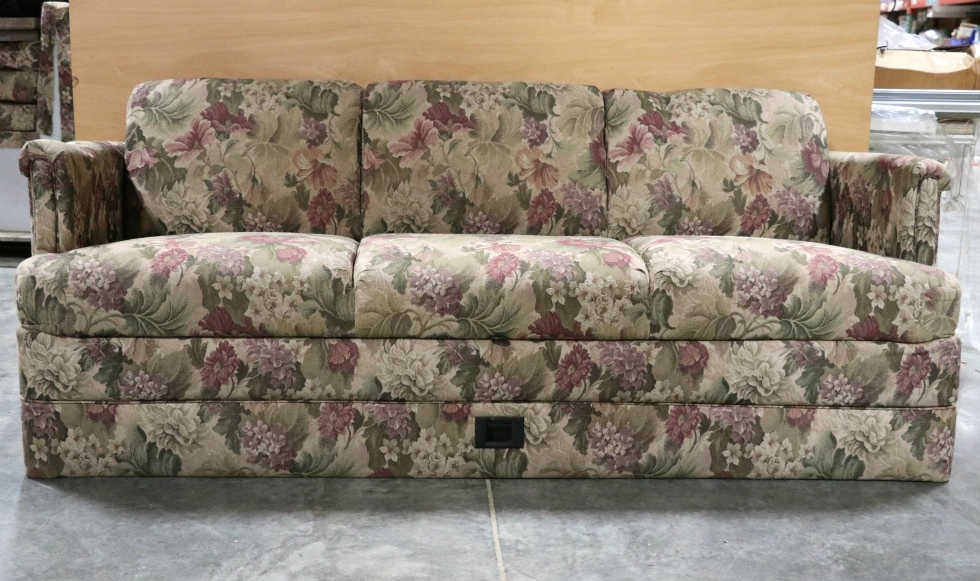 Charmant USED RV FLORAL PATTERN CLOTH JACK KNIFE SLEEPER SOFA MOTORHOME FURNITURE  FOR SALE RV Furniture