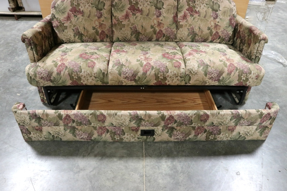 Rv Furniture Used Rv Floral Pattern Cloth Jack Knife