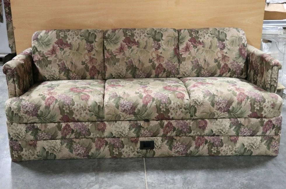 rv furniture used rv floral pattern cloth jack knife sleeper sofa motorhome furniture for sale. Black Bedroom Furniture Sets. Home Design Ideas
