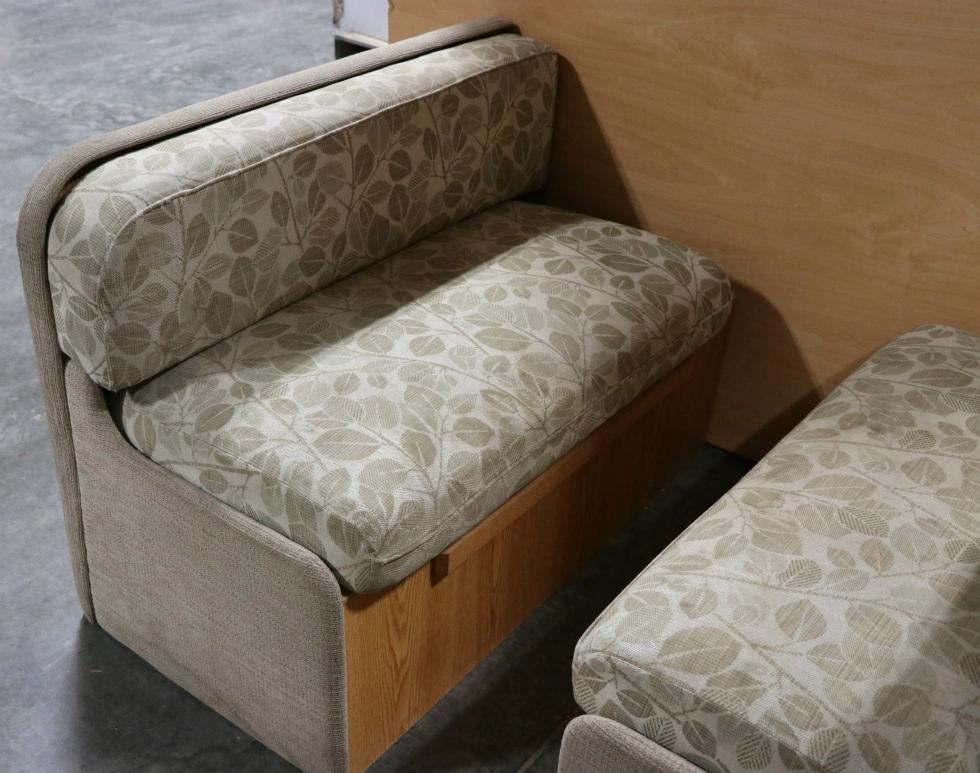 rv furniture used motorhome leaf pattern cloth dinette booth rv furniture for sale dinette. Black Bedroom Furniture Sets. Home Design Ideas
