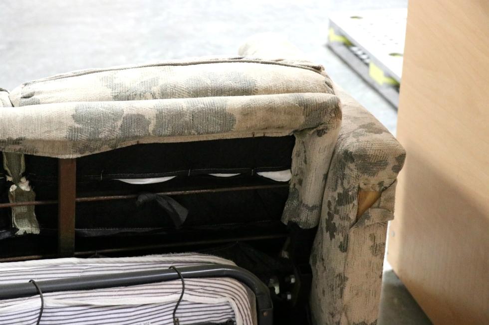Rv Furniture Used Rv Cloth Pull Out Sleeper Sofa Motorhome