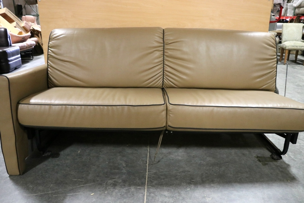Rv Furniture Used Motorhome Brown Jack Knife Sleeper Sofa
