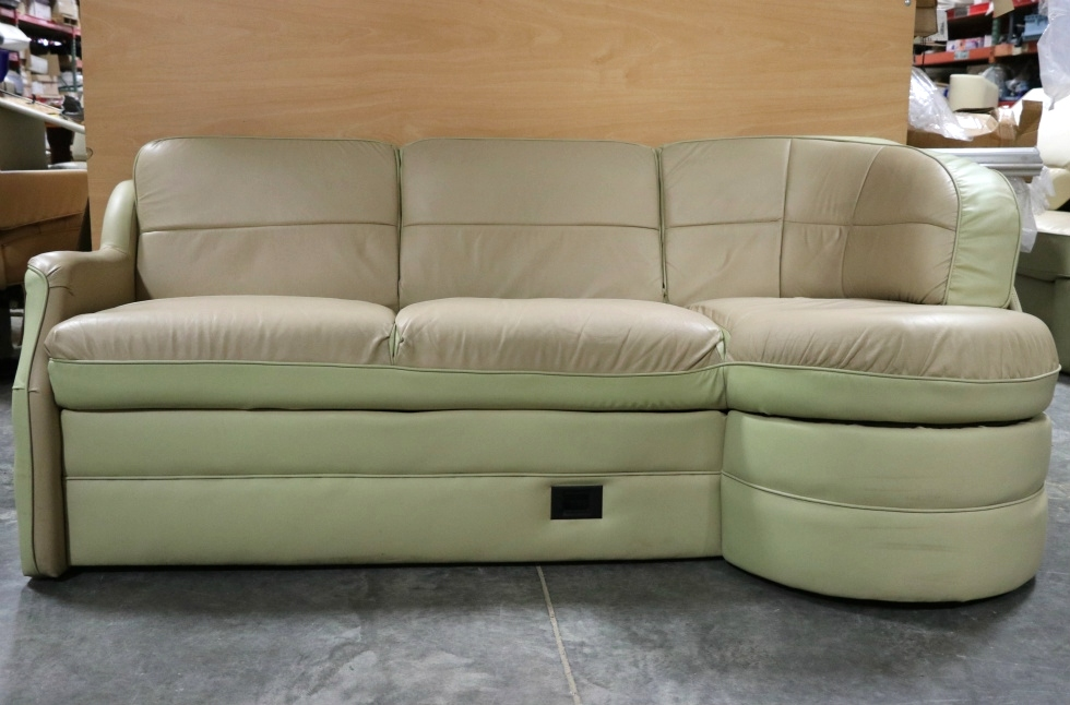 Used Two Tone Motorhome J Lounge Sofa With Storage Drawer Rv Parts For