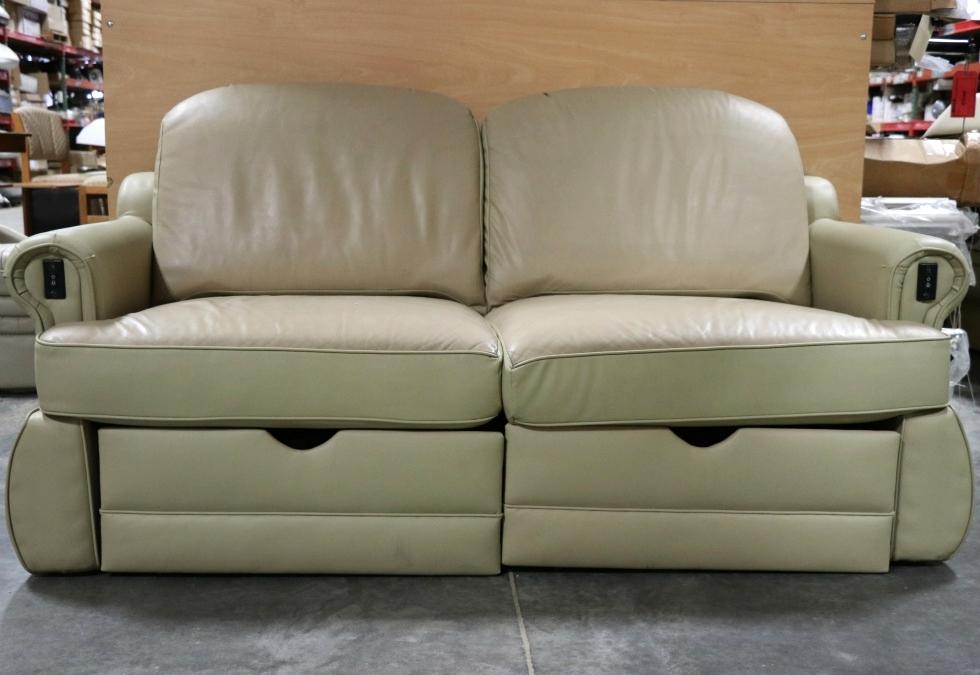Used Two Tone Rv Electric Sleeper Sofa Motorhome Furniture For