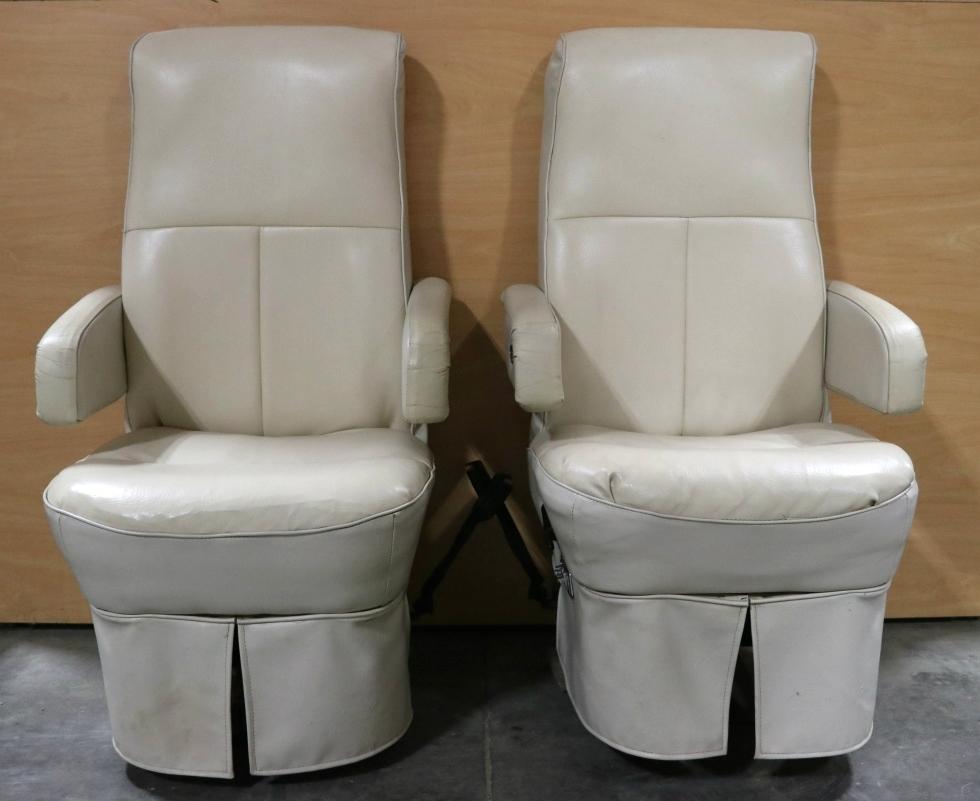RV Furniture USED RV FLEXSTEEL CAPTAIN CHAIR SET MOTORHOME