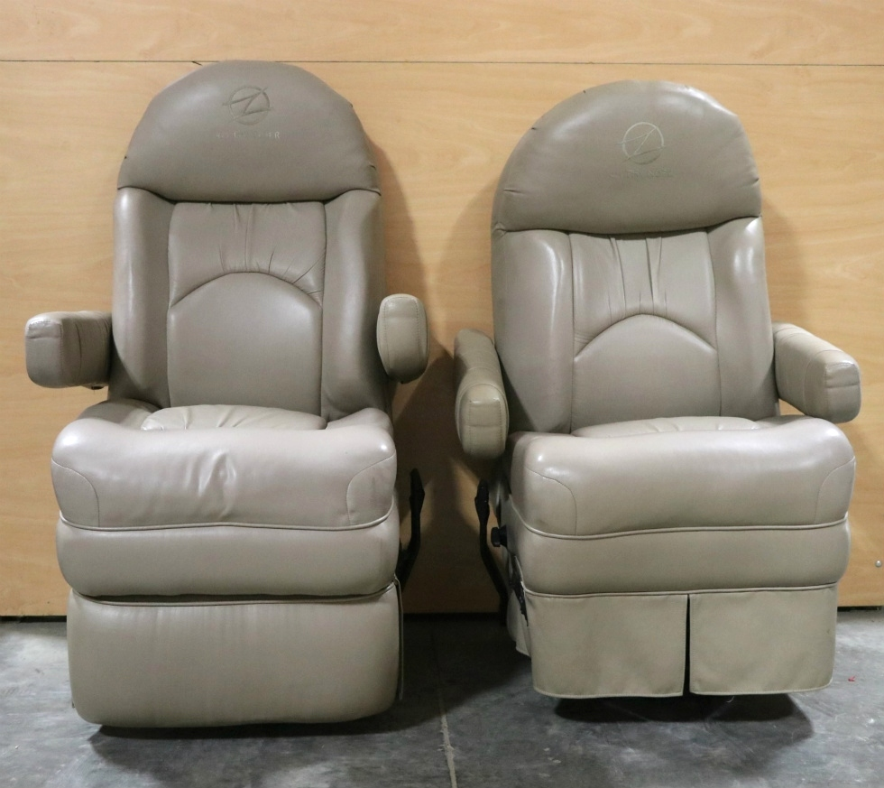 USED SET OF 2 PATRIOT 425 THUNDER CAPTAIN CHAIRS RV PARTS FOR SALE RV Furniture
