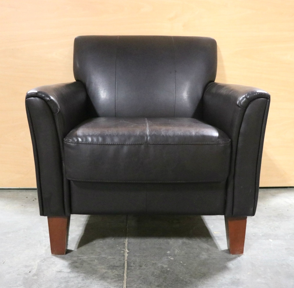 USED RV BROWN LEATHER CHAIR MOTORHOME PARTS FOR SALE RV Furniture
