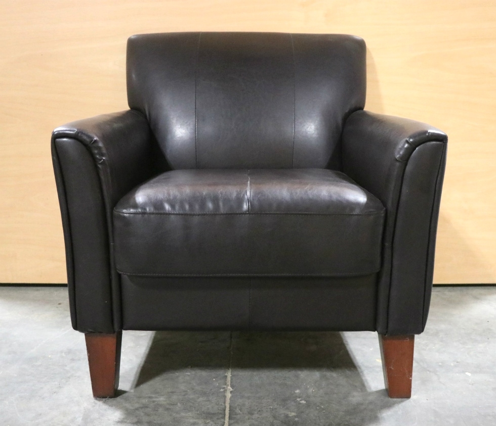 BROWN LEATHER USED MOTORHOME CHAIR FOR SALE RV Furniture